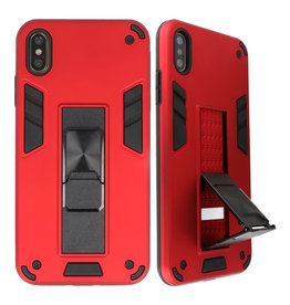 Stand Hardcase Backcover for iPhone Xs Max Red