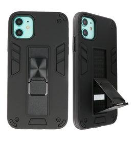 Stand Hardcase Backcover voor iPhone 11 Zwart