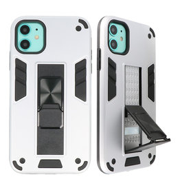 Stand Hardcase Backcover für iPhone 11 Silber