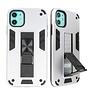 Stand Hardcase Backcover voor iPhone 11 Zilver