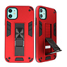 Stand Hardcase Backcover voor iPhone 11 Rood