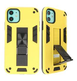 Stand Hardcase Backcover voor iPhone 11 Geel