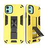 Stand Hardcase Backcover für iPhone 11 Gelb