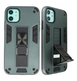 Stand Hardcase Backcover für iPhone 11 Dunkelgrün