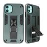 Stand Hardcase Backcover voor iPhone 11 Donker Groen