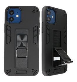 Stand Hardcase Backcover für iPhone 12 Mini Black