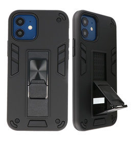Stand Hardcase Backcover voor iPhone 12 Mini Zwart