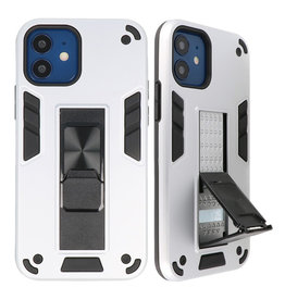 Stand Hardcase Backcover für iPhone 12 Mini Silver
