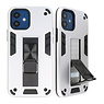 Stand Hardcase Backcover voor iPhone 12 Mini Zilver