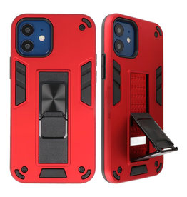 Stand Hardcase Backcover voor iPhone 12 Mini Rood