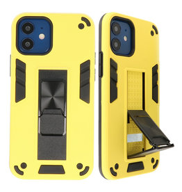 Stand Hardcase Backcover für iPhone 12 Mini Yellow