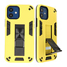 Stand Hardcase Backcover voor iPhone 12 Mini Geel