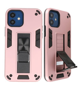Stand Hardcase Backcover für iPhone 12 Mini Pink