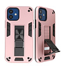 Stand Hardcase Backcover voor iPhone 12 Mini Roze