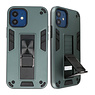 Stand Hardcase Backcover für iPhone 12 Mini Dark Green