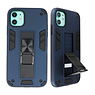 Stand Hardcase Backcover für iPhone 12 Mini Navy