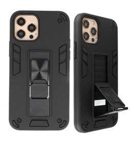 Stand Hardcase Backcover für iPhone 12 - 12 Pro Black
