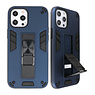 Stand Hardcase Backcover voor iPhone 12 - 12 Pro Navy