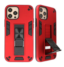 Stand Hardcase Backcover voor iPhone 12 - 12 Pro Rood