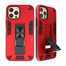 Stand Hardcase Backcover für iPhone 12 - 12 Pro Red