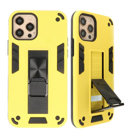 Stand Hardcase Backcover voor iPhone 12 - 12 Pro Geel
