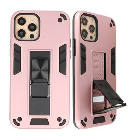Stand Hardcase Backcover voor iPhone 12 - 12 Pro Roze