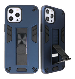 Stand Hardcase Backcover voor iPhone 12 Pro Max Navy