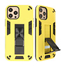 Stand Hardcase Backcover voor iPhone 12 Pro Max Geel