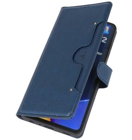 Luxury Wallet Case for Samsung Galaxy A72 5G Navy