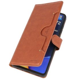 Luxury Wallet Case for Samsung Galaxy A72 5G Brown