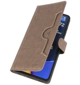 Luxury Wallet Case for Samsung Galaxy A72 5G Gray