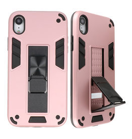 Stand Hardcase Backcover for iPhone XR Pink