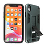 Stand Hardcase Backcover for iPhone XR Dark Green