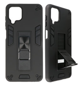 Stand Hardcase Backcover for Samsung Galaxy A12 Black