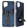 Stand Hardcase Backcover for Samsung Galaxy A12 Navy
