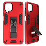 Stand Hardcase Backcover for Samsung Galaxy A12 Red