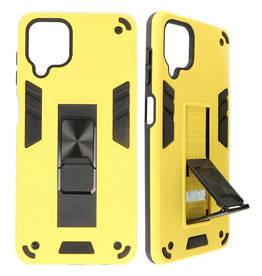 Stand Hardcase Backcover for Samsung Galaxy A12 Yellow