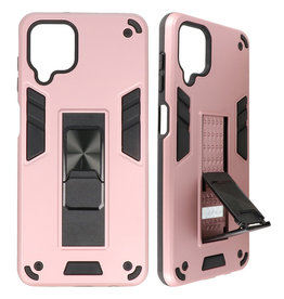 Stand Hardcase Backcover for Samsung Galaxy A12 Pink