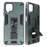 Stand Hardcase Backcover for Samsung Galaxy A12 Dark Green
