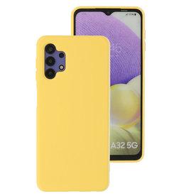 2.0mm Thick Fashion Color TPU Case Samsung Galaxy A32 5G Yellow