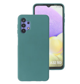 2.0mm Thick Fashion Color TPU Case Samsung Galaxy A32 5G Dark Green