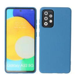 2.0mm Thick Fashion Color TPU Case Samsung Galaxy A52 5G Navy
