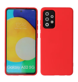2.0mm Thick Fashion Color TPU Case Samsung Galaxy A52 5G Red