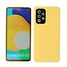 2.0mm Thick Fashion Color TPU Case Samsung Galaxy A52 5G Yellow