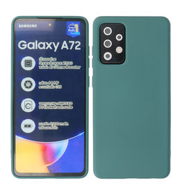 2.0mm Thick Fashion Color TPU Case Samsung Galaxy A72 5G Dark Green