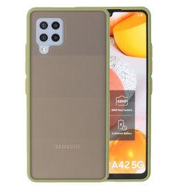 Color combination Hard Case Samsung Galaxy A42 5G Green