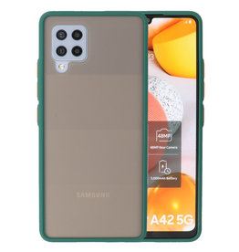 Color combination Hard Case Samsung Galaxy A42 5G Dark Green