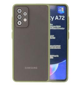Color combination Hard Case Samsung Galaxy A72 5G Green