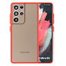 Color combination Hard Case Samsung Galaxy S21 Ultra Red