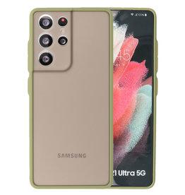 Color combination Hard Case Samsung Galaxy S21 Ultra Green